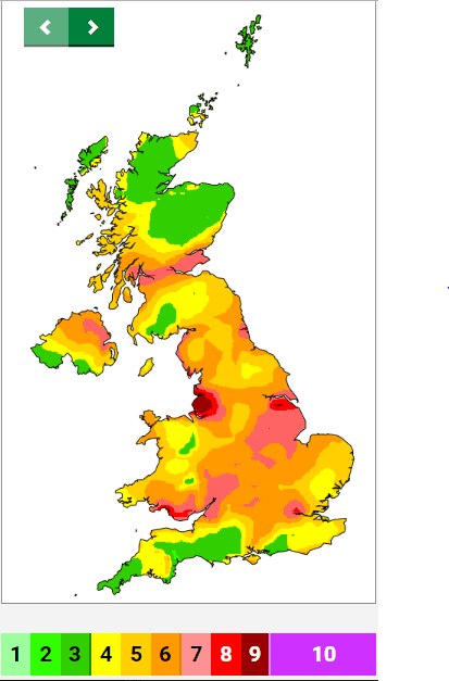Pollution Map UK, Climate Change