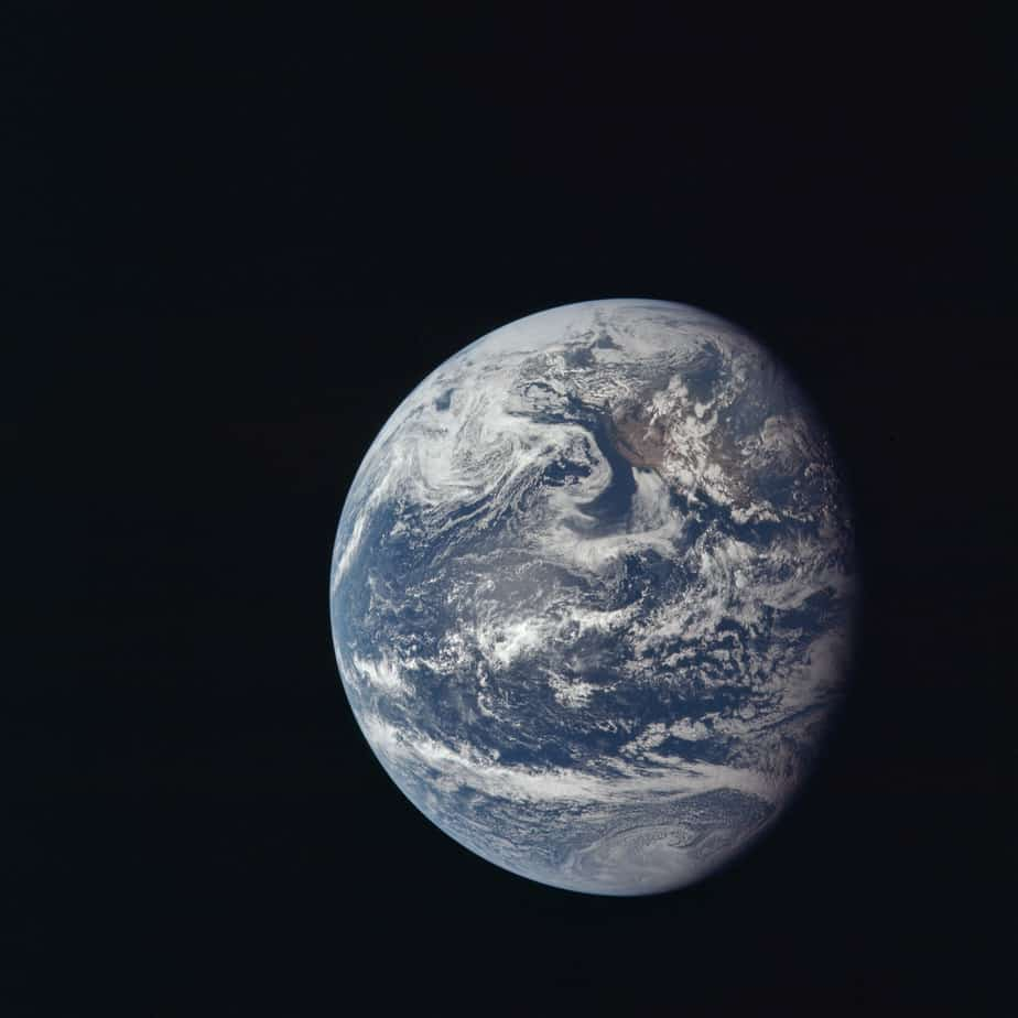 Earth from Apollo 11 July 16 1969
